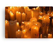 Soothing Candles Canvas Print