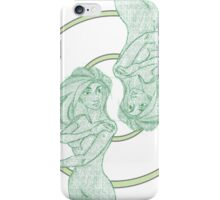 The Green Twins. iPhone Case/Skin