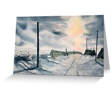 """December Dawn"" Greeting Card"