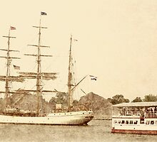 Europa and Islander - Parade of Sail by Francis LaLonde