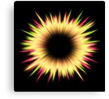 Light burst abstract design Canvas Print