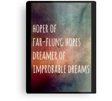 Hoper of far flung hopes, dreamer of impossible dreams Metal Print