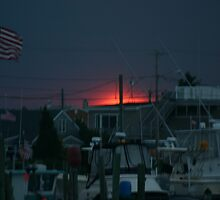 Sunset in Galilee Rhode Island by chaching57