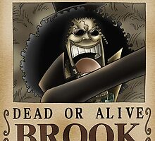 WANTED ! Brook - One Piece by Amyne