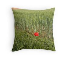 Lone Poppy Throw Pillow