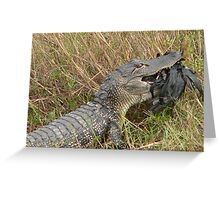 Gator At Dinnertime Greeting Card