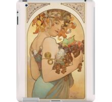 'Fruit' by Alphonse Mucha (Reproduction) iPad Case/Skin