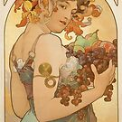 'Fruit' by Alphonse Mucha (Reproduction) by Roz Abellera Art Gallery