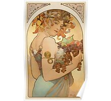 'Fruit' by Alphonse Mucha (Reproduction) Poster