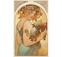 'Fruit' by Alphonse Mucha (Reproduction) Photographic Print