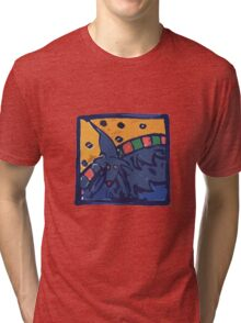 BLUE DOG JUMP POOL Tri-blend T-Shirt