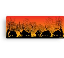 sunset village Canvas Print