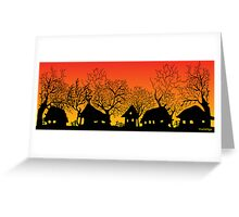 sunset village Greeting Card