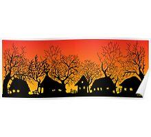 sunset village Poster