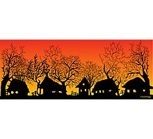 sunset village Photographic Print