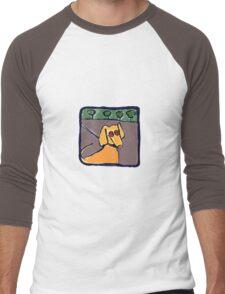 UNLEASH THE DOG Men's Baseball ¾ T-Shirt