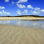Waves in the sand, Spirits Bay by Victoria Ashman