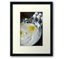 Cupcake Batter Framed Print