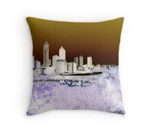 perth cityscape Throw Pillow