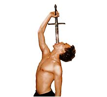 Celebrity Sword Swallowing Photographic Print