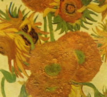 'Still Life with Sunflowers' by Vincent Van Gogh (Reproduction) Sticker