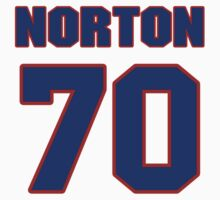 National football player Jim Norton jersey 70 by imsport