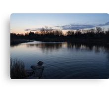 Cool Blue Ripples - Lake Shore Eventide Canvas Print