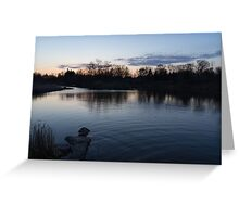 Cool Blue Ripples - Lake Shore Eventide Greeting Card