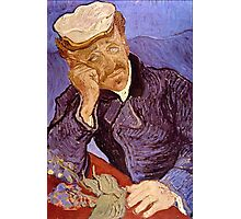 'Portrait of Dr. Gatchet' by Vincent Van Gogh (Reproduction) Photographic Print