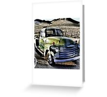 old green truck, route 66, cool springs, arizona Greeting Card