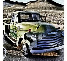 old green truck, route 66, cool springs, arizona Photographic Print