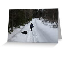 NC time for a walk Greeting Card