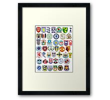 Football teams Framed Print