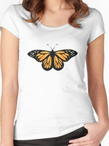 Colored butterfy 6 Women's Fitted Scoop T-Shirt