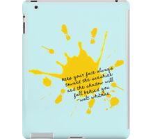 Walt Whitman Positivity iPad Case/Skin