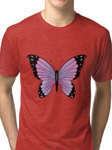 Colorful Butterfly 3 Tri-blend T-Shirt
