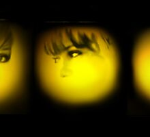 yellow spotlights by Coby .
