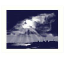 """Storm over Bridlington Bay"" Art Print"