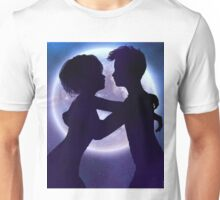 Couple silhouette in the night 2 Unisex T-Shirt