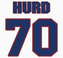 National football player Zach Hurd jersey 70 by imsport