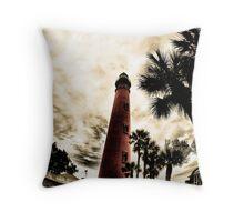 Ponce Inlet Lighthouse, Florida Throw Pillow