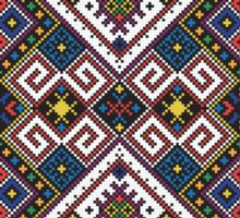 Eastern European Ornamental Pattern Sticker