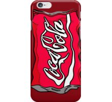 Coca Cola crushed can pop art style iPhone Case/Skin