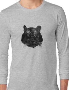 Tiger in black and white Long Sleeve T-Shirt
