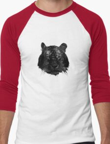 Tiger in black and white Men's Baseball ¾ T-Shirt