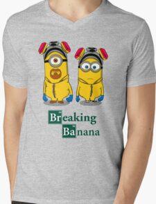 Breaking Banana Mens V-Neck T-Shirt