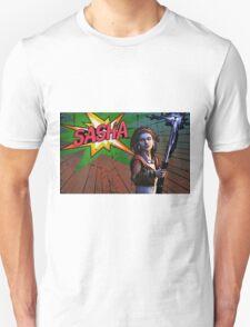 Sasha Comic Book Splash T-Shirt