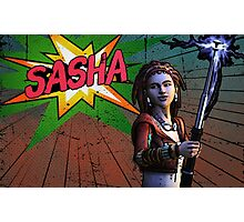 Sasha Comic Book Splash Photographic Print