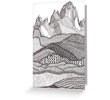 Patterns on Patagonia Greeting Card