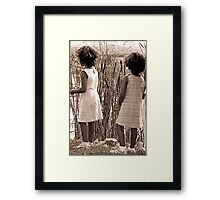 girls watching Framed Print